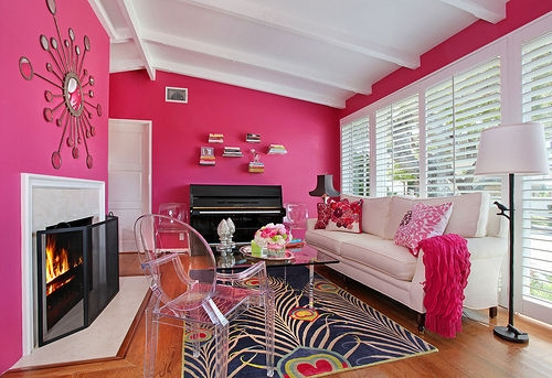 Bold Colors-Pink Is Not Always Feminine | Vintage Modern